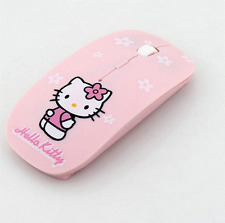 Wireless Mouse Hello Kitty Computer Mice 2.4Ghz USB Pink Girl Pro Game Gift Cute