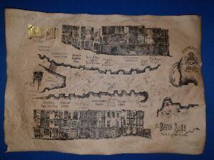 Harry Potter Diagon Alley Map. Harry Potter prop. Replica