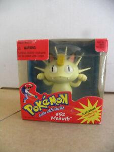 "Hasbro 1998 Pokemon #52 MEOWTH Electronic Voice & Rocking Figure in box 3"" mf"