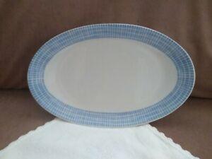 Arzberg  Platte Teller Servierplatte blau weiß Bastdekor