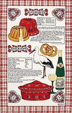 BEAUVILLE, ALSACE GOURMANDE (ALSACIENNE CUISINE) FRENCH KITCHEN / TEA TOWEL, NEW