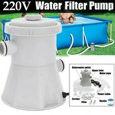 Electric Swimming Paddling Pool Filter Pump Water Clean Above Ground Garden