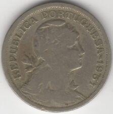 1931 monedas de Portugal 50 centavos | europea | peniques 2 lb (approx. 0.91 kg)