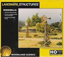 Windmills - Two (2) to a Kit- HO Model Trains  -Woodland Scenics #BF5192