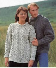 Knitting Pattern Lady's/Men's Aran Cable Sweaters - 2 Styles 76-122 cm  (28)