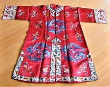 New listing Antique Red Chinese Robe with Dragons In Perfect Condition