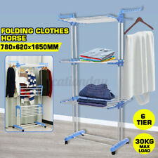 Folding Clothes Storage Drying Rack Portable Dryer Hanger Heavy Duty