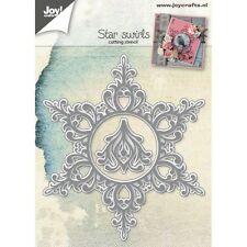 Joy Crafts Die Cutting Embossing Debosing Stencil - Star Swirls - 6002/0788 -New