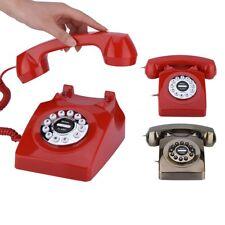 Retro Vintage Push Button Old Antique Telephone Dial Desk Phone Decor Classical