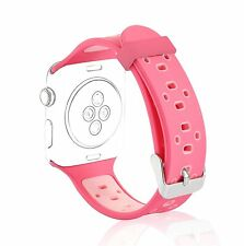 Women 38mm Replacement Strap Wristband Apple Watch Silicone Sport Band Pink New