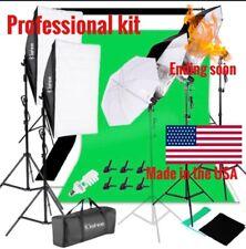 ProfessionalChromakey Green Screen Studio Lighting Kit W/ Backdrop Stand Light