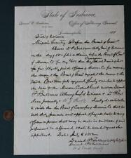 1882 Indianapolis,Indiana disgraced Attorney General signed court document-RARE!
