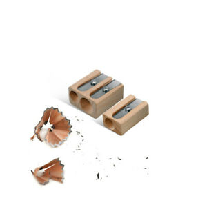 LYRA Pro Natural Wooden Pencil Sharpener - Single or Double Hole