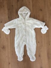 Next Baby Girl Cream Snowsuit In Vgc Size 3-6 Months