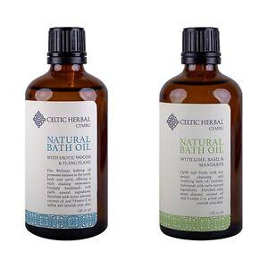 Celtic Herbal Bath Oil Multipack | Mandarin, Lime & Basil | Exotic Wood & Ylang