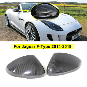 Add On Style For 2014-2019 Jaguar F-Type Real Carbon Fiber Mirror Covers Caps