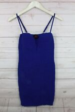 New Bebe Women's Seamless Sleeveless Ribbed Short Bodycon Dress Blue/Pink S-L