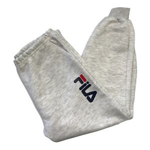 """Fila Women's Grey Tracksuit Bottoms Joggers Size Large Activewear Trousers W 34"""""""