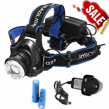 4000LM CREE XM-L T6 LED Headlamp Zoomable Headlight Torch Rechargeable Battery
