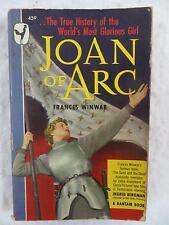 Frances Winwar JOAN OF ARC Bantam Books 1948 Ingrid Bergman Movie Tie-In