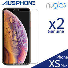 Nuglas Tempered Glass Clear Screen Protector for Apple iPhone XS Max - Pack of 2