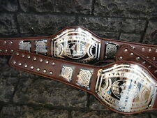 NEW Tag Team Championship Belts Avenger Aged Brown Leather Look 2 Belts