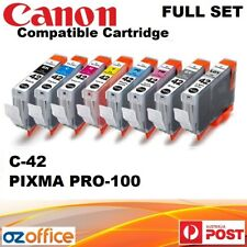 FULL SET 8 x Canon PGI-42 Compatible Ink Cartridge 42 Ink Canon Pixma Pro 100