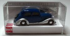 Mercedes 170 V blau silber  Busch 1:87 H0 Auto Modellauto Sammlung