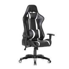 Racingstuhl Chefsessel Bürostuhl Gamingstuhl Schreibtischstuhl schwarz weiß