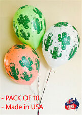 PARTY SUPPLIES MEXICAN FIESTA COWBOY CACTUS LATEX BALLOONS PACK OF 10 HELIUM AIR
