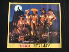 Tecate beer poster Lets Party Bikinis, Chaps, & Sombreros!
