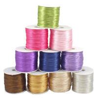 1.5mm Satin Nylon Cord Rattail Thread Kumihimo Shamballa Macrame Craft Accessori