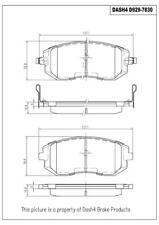 Dash 4 CD929 Disc Brake Pads - Dash4 Ceramic - FRONT