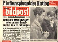 Wochenzeitung BILDPOST Nr. 32 von 1962, Alte Geister kommen wieder; Kennedy uvm.