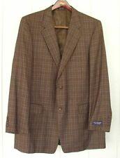 NWT $195 ROUNDTREE & YORKE 46L 46 L TALL  Jacket Suit  Blazer Wool/Silk Plaid