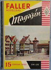 Faller  AMS --  Modellbau Magazin 15 von 1960