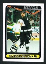 Tomas Sandstrom #301 signed autograph auto 1990-91 Topps Hockey Trading Card