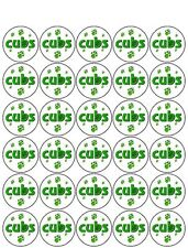 30 PRE-CUT CUBS PAW MUFFIN FAIRY CUP CAKE EDIBLE RICE WAFER PAPER TOPPERS