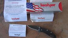 KERSHAW CHIVE DAMASCUS BLACK ANODIZED 1600CKTDAM ASSISTED OPENING USA MADE BOX
