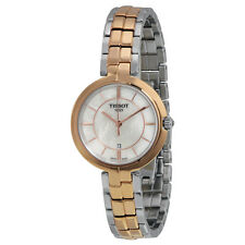 Tissot Flamingo Quartz Mother of Pearl Dial Two-tone Ladies Watch T0942102211100