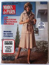 MODES DE PARIS du 04/1970; Les Tailleurs a manches courtes/ Meubles d'encoignure