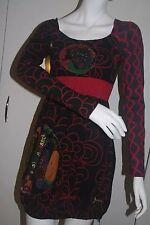 BNWT Desigual Black High Waisted Bubble Dress Size Medium