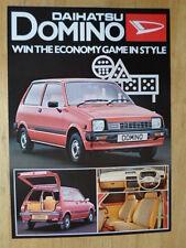 DAIHATSU DOMINO orig 1981 UK Mkt Sales Leaflet Brochure