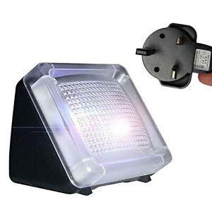 Fake LED TV Burglar Deterrent Simulator Light Sensor Home Security Device