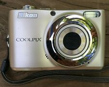 Nikon Coolpix L22 12.0Mp Digital Camera - Champagne silver Manual, Usb Cable