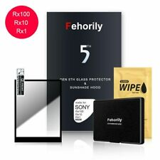 Glas Display schutzfolie & Sonnenschirm Kapuze For Sony RX1 RX10III RX10M4 RX100
