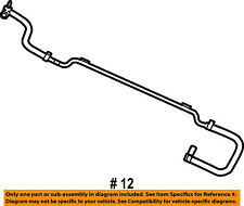 Genuine Chrysler 5058878AD Air Conditioning Heater Supply and Return Hose