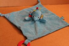 Tesco Carousel Elephant Blankie Aqua Turquoise Blue Baby Comforter Hug Toy