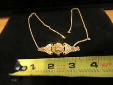 """Gorgeous Stunning Rare Gold Lion type of Fob on 24"""" 12kt g.f chain"""