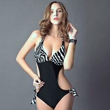 Women Bikini Leopard Swimsuit Bathing Suit Padded Monokini Swimwear One Piece